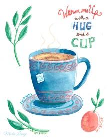 April tea sample Marla Lesage Watercolour Workshop