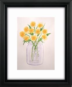 dandelion sample framed
