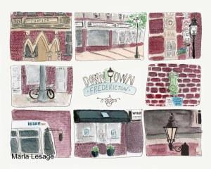 Downtown Fredericton print 04 07