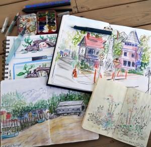 Marla Lesage Colourful Sketchbook